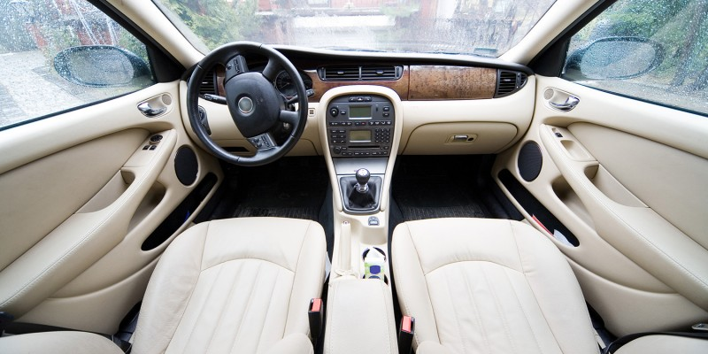 interior of exclusive car