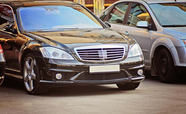 Luxury business car black